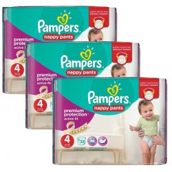 Giga Pack 128 Couches Pampers Active Fit - Pants taille 4 sur Promo Couches