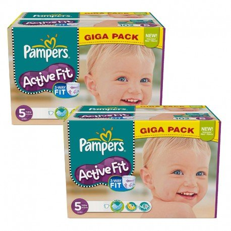 Maxi Giga Pack 235 Couches Pampers Active Fit taille 5 sur Promo Couches