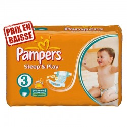 82 Couches Pampers Sleep & Play taille 3