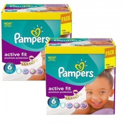 Maxi Giga Pack 240 Couches Pampers Active Fit - Premiun Protection taille 6