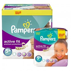 Maxi Pack 288 Couches Pampers Active Fit - Premium Protection taille 5+ sur Promo Couches