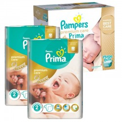 Maxi Giga Pack 242 Couches Pampers Premium Care - Prima taille 2 sur Promo Couches