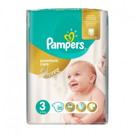 Pack 20 Couches Pampers Premium Care - Prima taille 3 sur Promo Couches