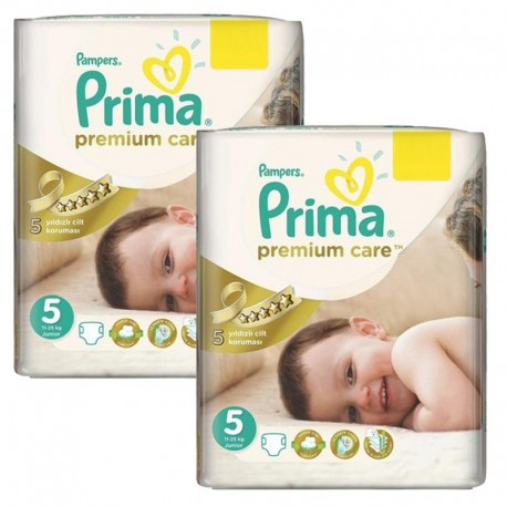 Maxi Giga Pack 126 Couches Pampers Premium Care - Prima taille 5 sur Promo Couches