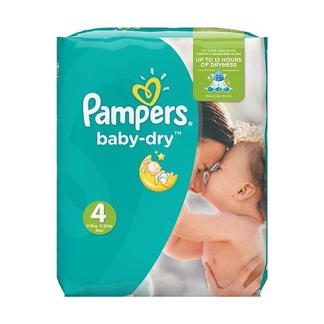 Pack 30 Couches Pampers Baby Dry taille 4 sur Promo Couches