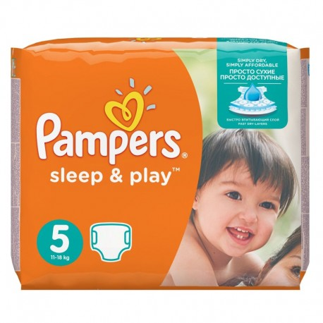 Pack 58 Couches Pampers Sleep & Play taille 5 sur Promo Couches