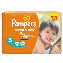 Pack 42 Couches Pampers Sleep & Play taille 5 sur Promo Couches