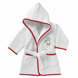 Peignoir de Bain Chicco - blanc et rouge sur Promo Couches