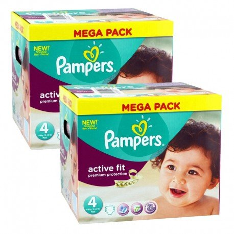 Giga Pack 840 Couches Pampers Active Fit - Premium Protection taille 4 sur Promo Couches