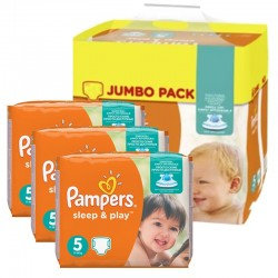 Giga Pack 348 Couches Pampers Sleep & Play taille 5