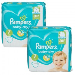 Maxi Pack 115 Couches Pampers Baby Dry taille 7 sur Promo Couches