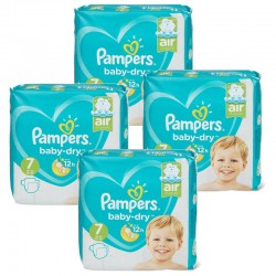 Maxi Pack 138 Couches Pampers Baby Dry taille 7 sur Promo Couches