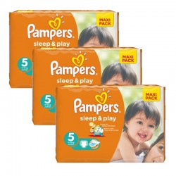 Mega Pack 126 Couches Pampers Sleep & Play taille 5