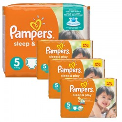 Giga Pack 252 Couches Pampers Sleep & Play taille 5