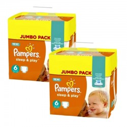 Giga Pack 210 Couches Pampers Sleep & Play taille 6