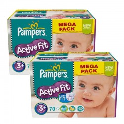 Giga Pack 140 Couches Pampers Active Fit taille 3+