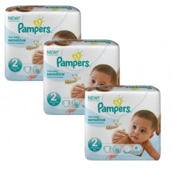 180 Couches Pampers New Baby Sensitive taille 2