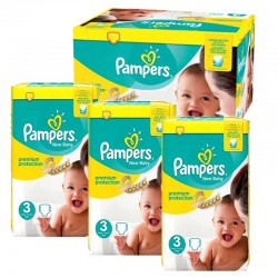 Maxi Pack 300 Couches Pampers premium protection taille 3