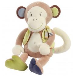 Doudou assis Babysun Singe Monkey Donkey sur Promo Couches