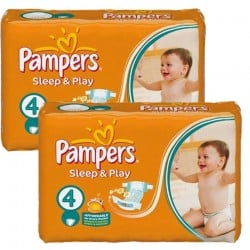 Maxi Pack 108 Couches Pampers Sleep & Play taille 4 sur Promo Couches
