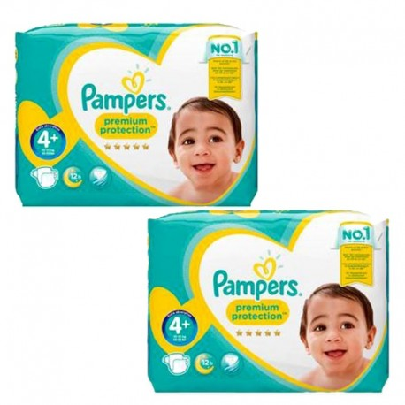 Giga Pack 124 Couches Pampers new baby - premium protection taille 4+ sur Promo Couches