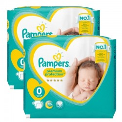 Pack 48 Couches Pampers New Baby Premium Protection taille 0 sur Promo Couches