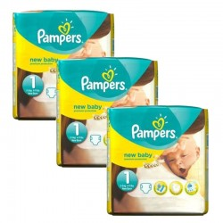 Pack 69 Couches Pampers new baby - premium protection taille 1 sur Promo Couches