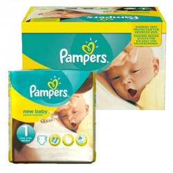 Giga pack 92 Couches Pampers new baby - premium protection taille 1