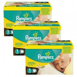Pack Jumeaux 506 Couches Pampers new baby - premium protection taille 1 sur Promo Couches