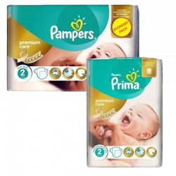 Pack 114 Couches Pampers new baby - premium protection taille 2