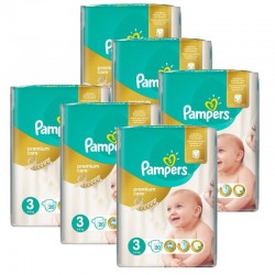 giga pack 480 Couches Pampers Premium Care - Prima taille 3