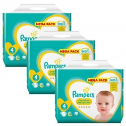 Maxi Pack 234 Couches Pampers new baby - premium protection taille 4 sur Promo Couches