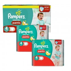 Maxi Pack 188 Couches Pampers Baby Dry Pants taille 4 sur Promo Couches