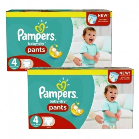 pack Jumeaux 564 Couches Pampers Baby Dry Pants taille 4 sur Promo Couches
