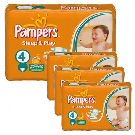 Giga Pack 252 Couches Pampers Sleep & Play taille 4 sur Promo Couches