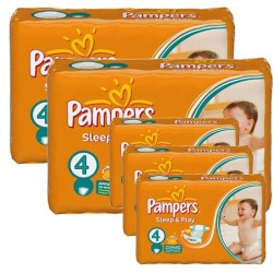 Maxi Pack 324 Couches Pampers Sleep & Play taille 4