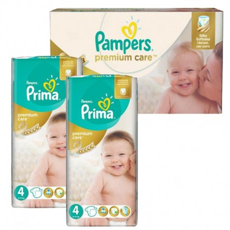 Mega Pack 120 Couches Pampers Premium Care - Prima taille 4 sur Promo Couches