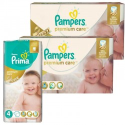 Giga Pack 320 Couches Pampers Premium Care - Prima taille 4 sur Promo Couches