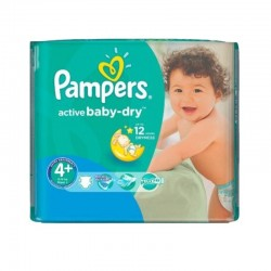 Pack 70 Couches Pampers Active Baby Dry taille 4+ sur Promo Couches