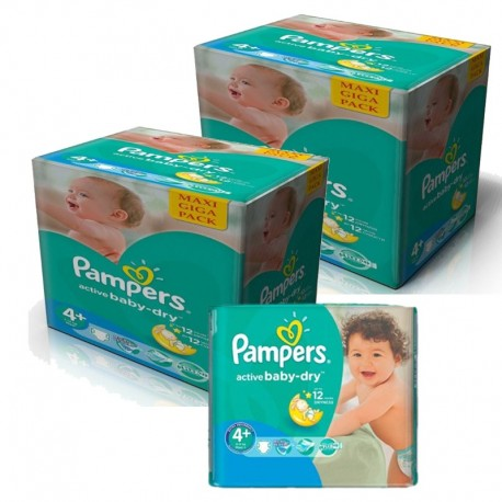 pack Jumeaux 420 Couches Pampers Active Baby Dry taille 4+ sur Promo Couches