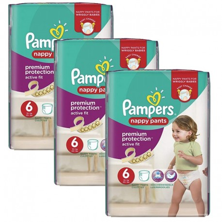 Giga Pack 64 Couches Pampers Active Fit - Pants taille 6 sur Promo Couches