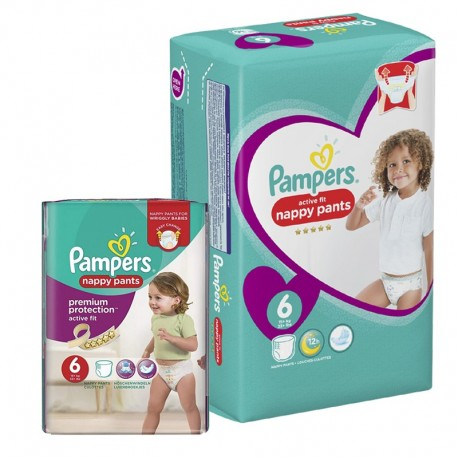 Maxi Pack 112 Couches Pampers Active Fit - Pants taille 6 sur Promo Couches