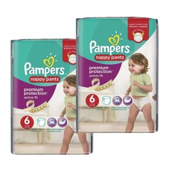 Pack 28 Couches Pampers Active Fit - Pants taille 6