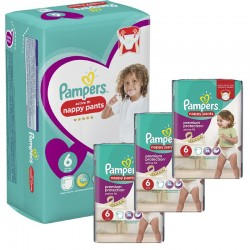 Giga Pack 140 Couches Pampers Active Fit - Pants taille 6