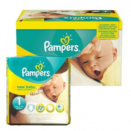 Pack 96 Couches Pampers New Baby Premium Protection taille 1 sur Promo Couches