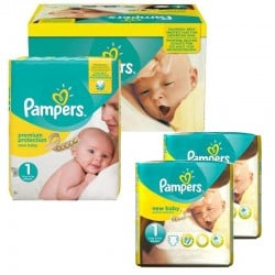 Mega Pack 192 Couches Pampers new baby - premium protection taille 1