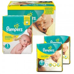 Mega Pack 192 Couches Pampers New Baby Premium Protection taille 1 sur Promo Couches