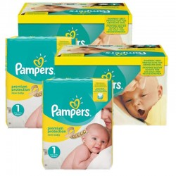 Mega Pack 384 Couches Pampers New Baby Premium Protection taille 1 sur Promo Couches