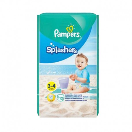Pack 12 Couches de bains Pampers Splashers taille 3 sur Promo Couches