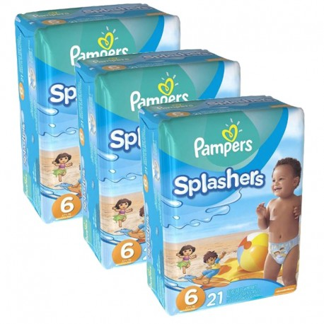 Giga Pack 63 Couches Pampers Swimming Pants Splachers sur Promo Couches